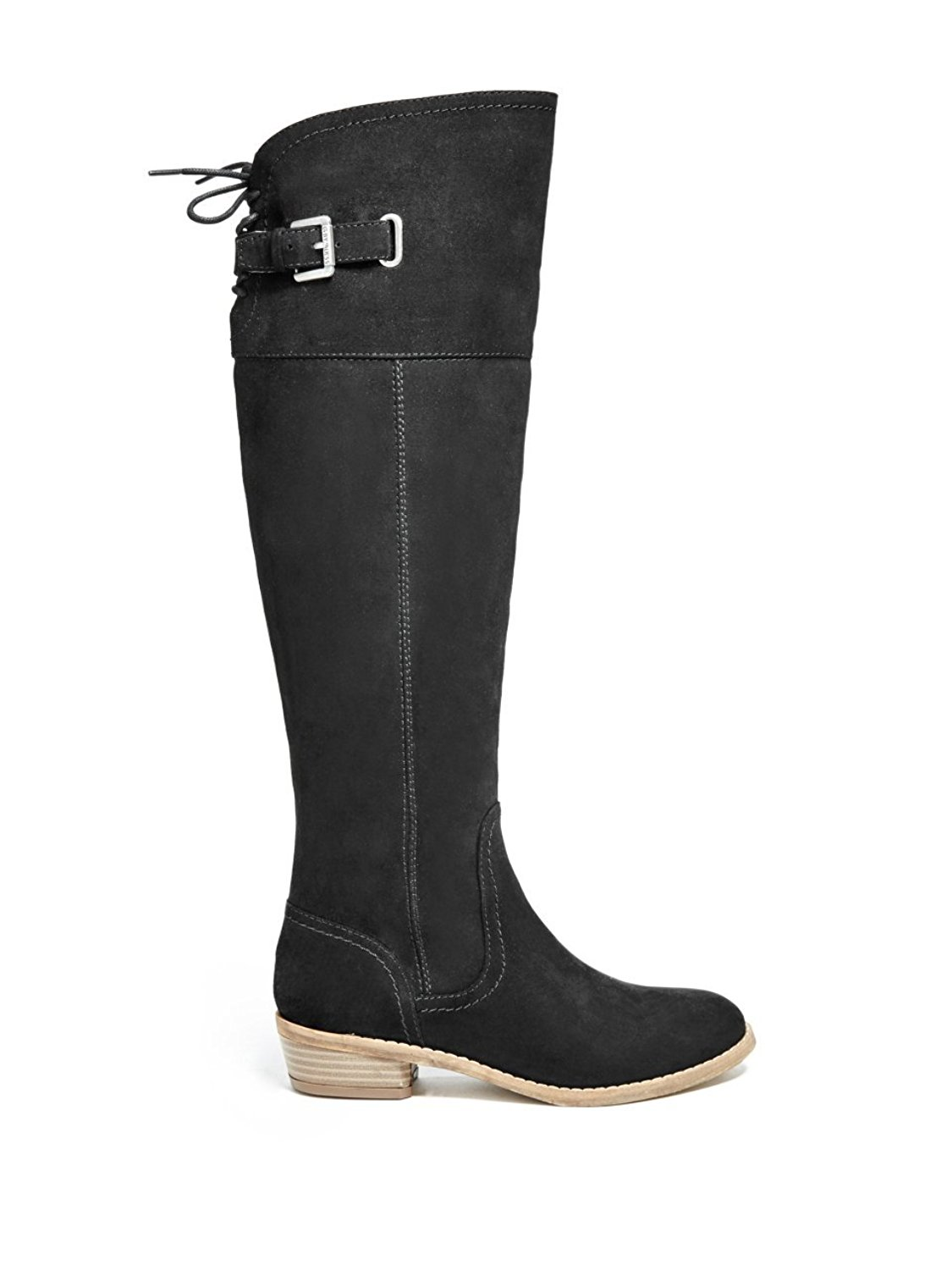 G By Guess Womens Aikon Closed Toe Knee High Riding Boots Black
