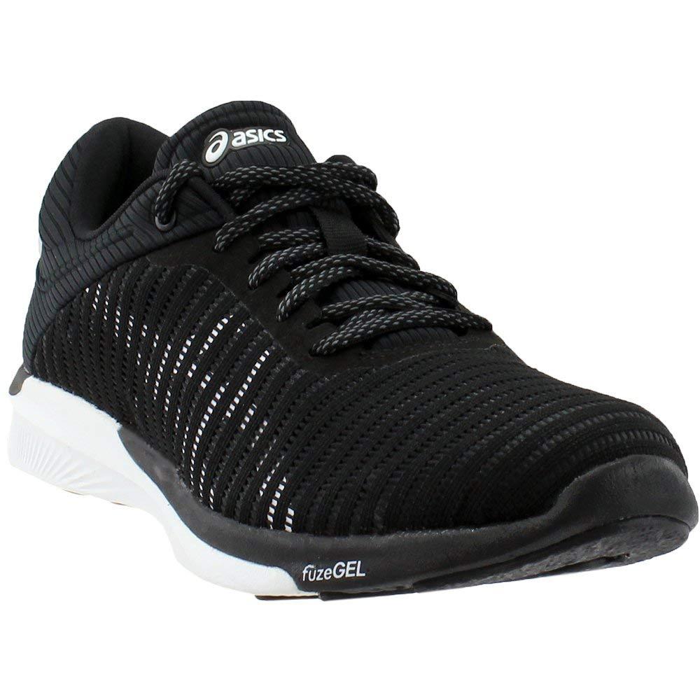 8 Gris deportivas Negro Us hombre 9 para Zapatillas Asics Reino Blanco oscuro Unido 5 Rush Fuzex 7wHnqC8
