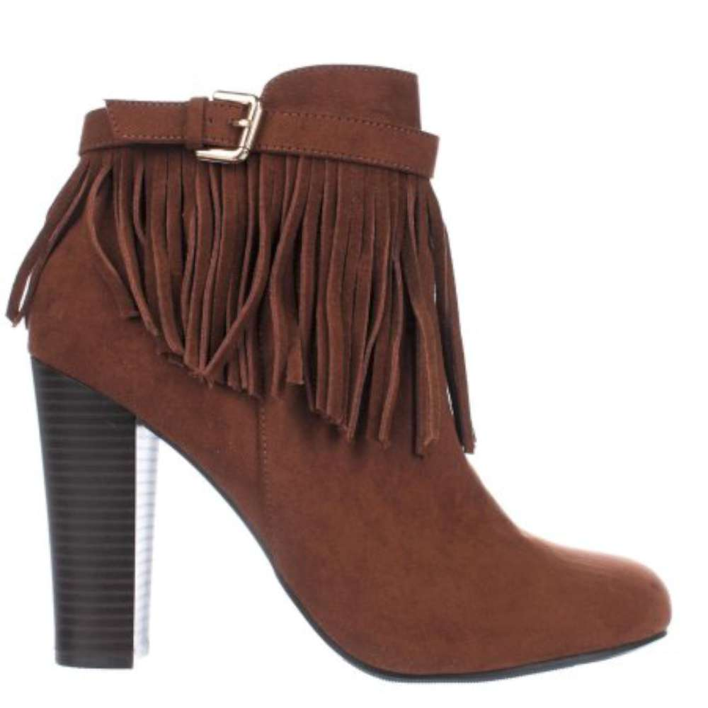 Material Girl Womens Persia Suede Round Toe Ankle Fashion Boots