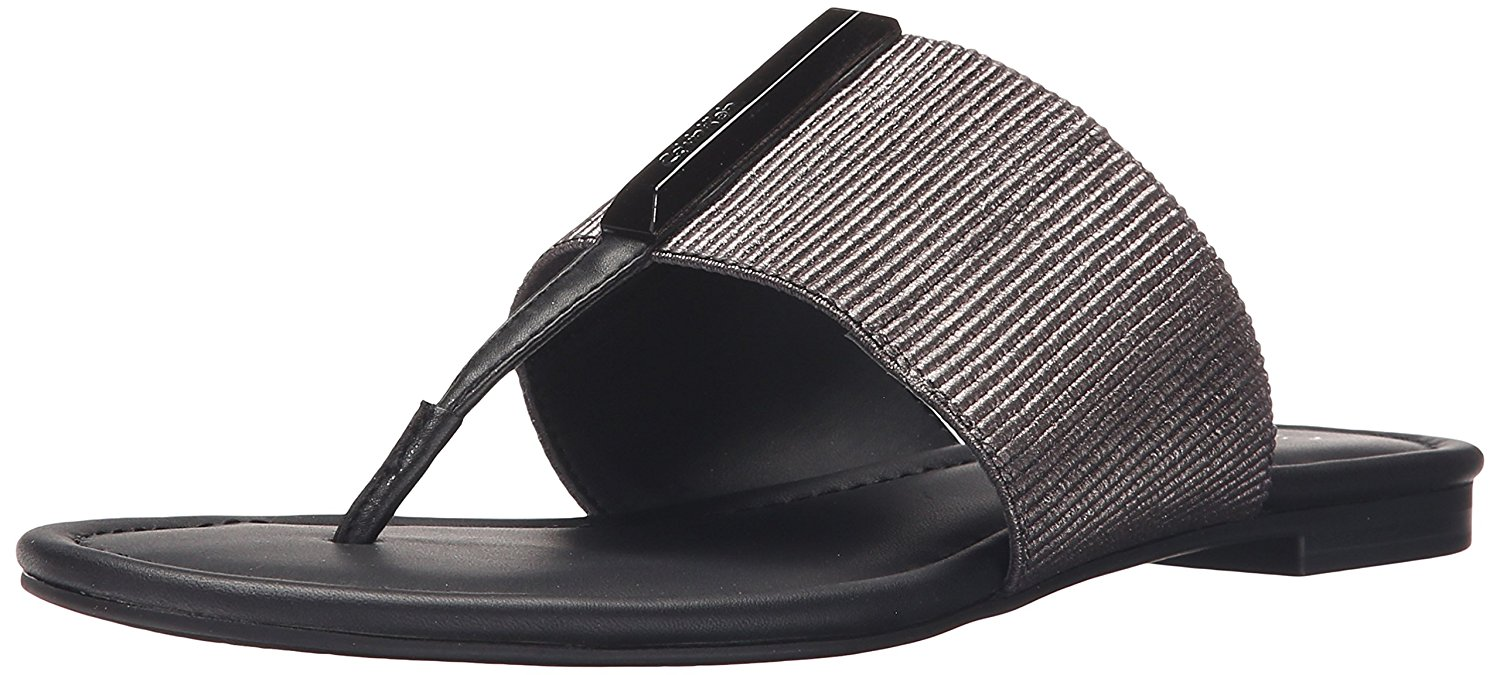 Calvin Klein Womens Bonni Open Toe Casual AnthraciteBlack Size 65