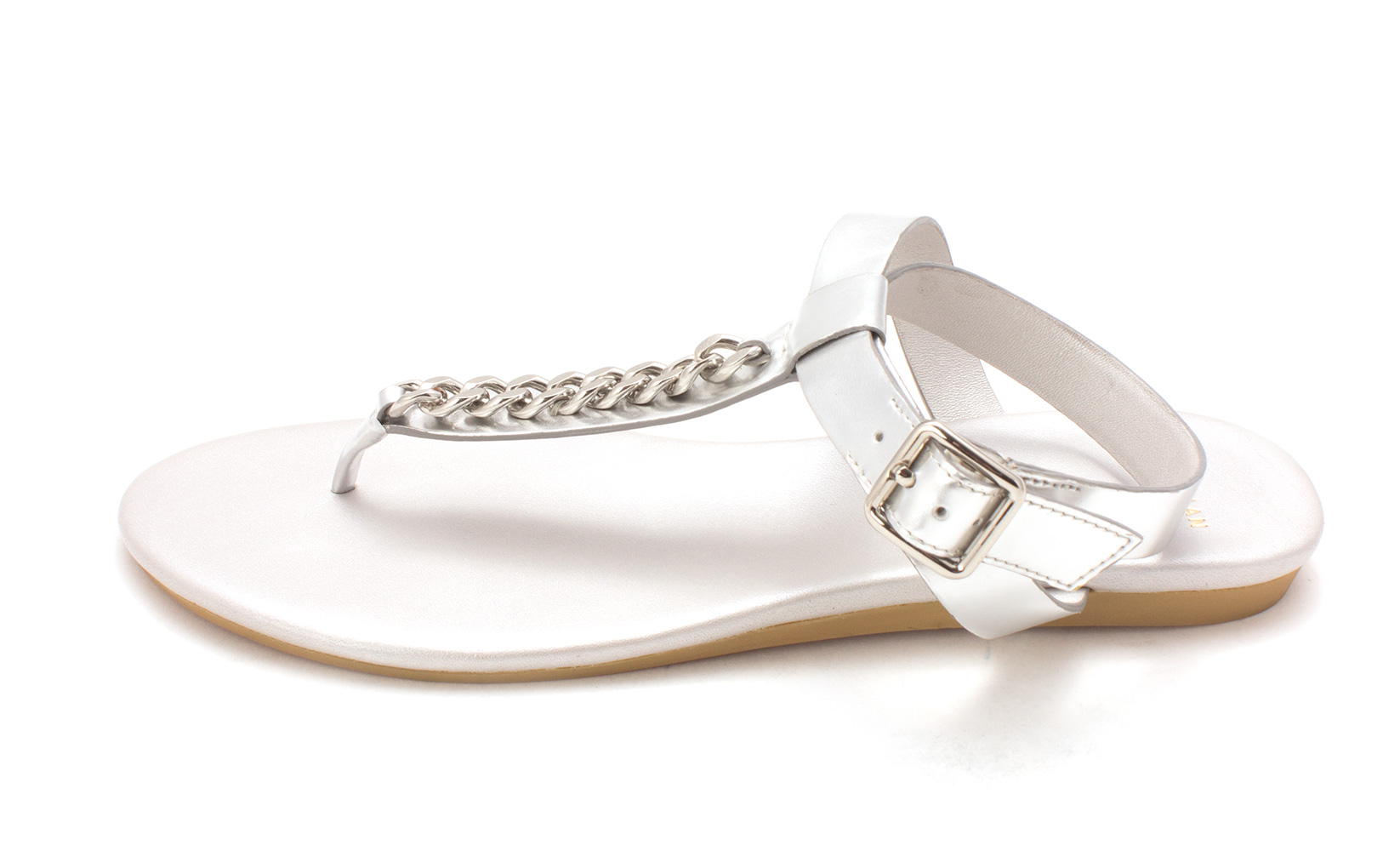 Cole Haan Womens 14A4042 Open Toe Casual TStrap Sandals Argento Size 60
