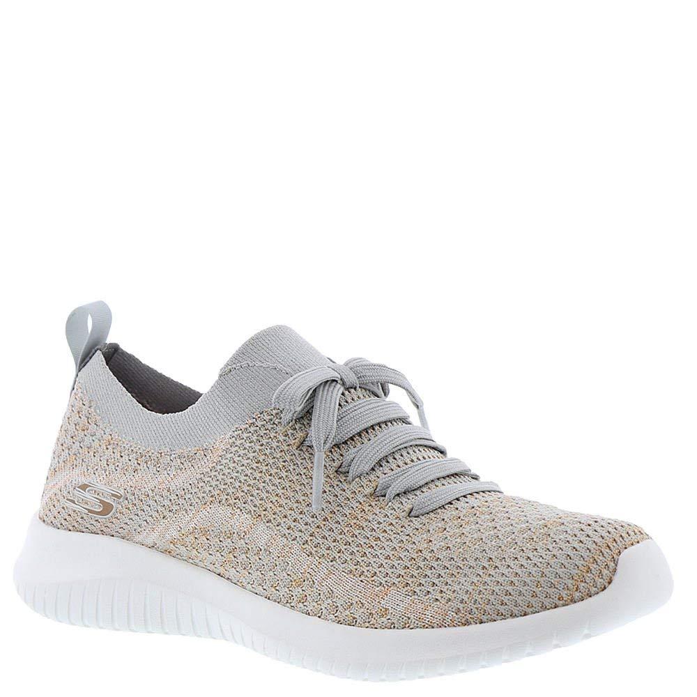 04fc3c5b9edc3 Skechers Women's Ultra Flex Salutations Sneaker, Taupe/Gold, Size 7.0 H0yJ