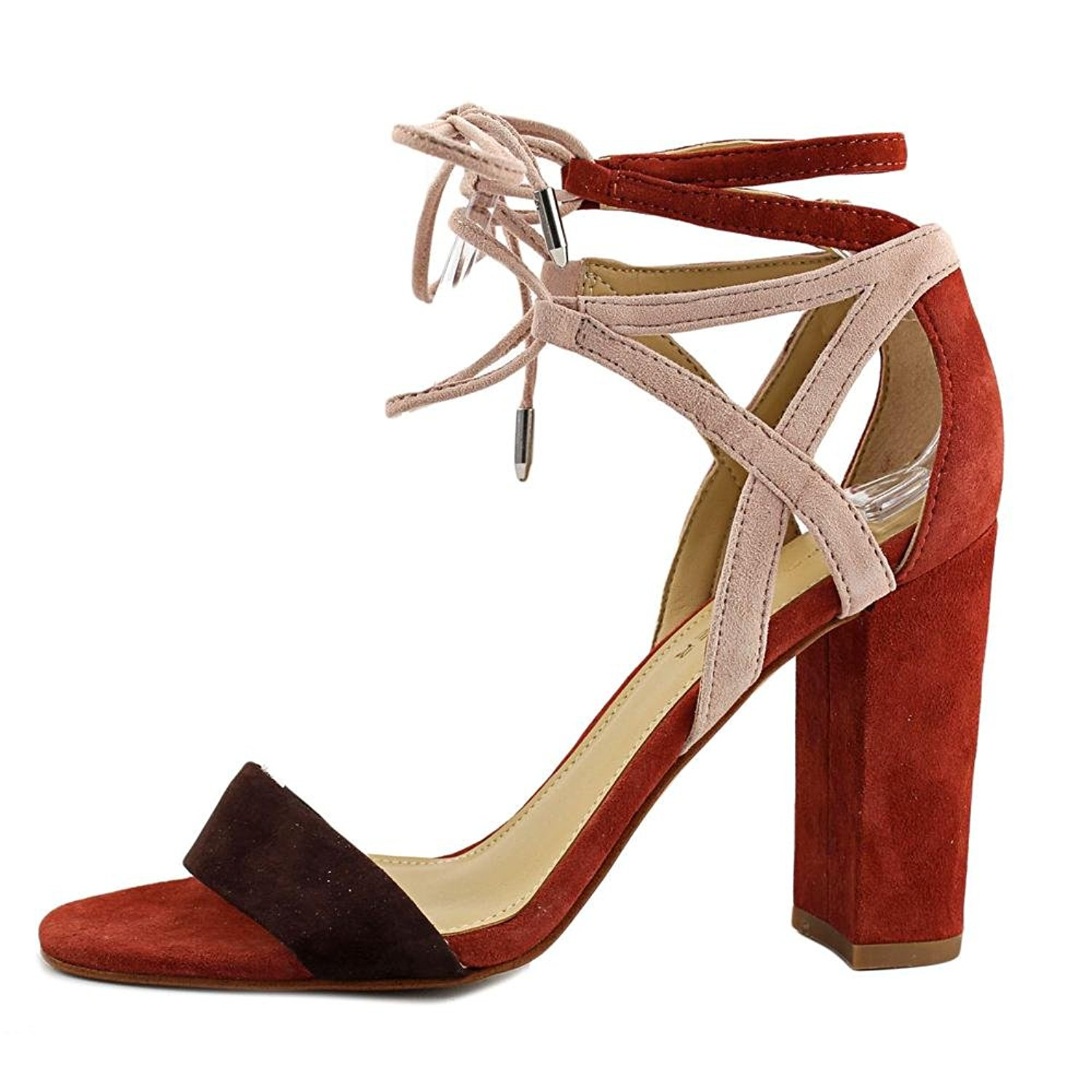 6f9acec3f164 Marc Fisher Fatima Womens Heeled Sandals Brown Multi Suede 6 US   4 ...