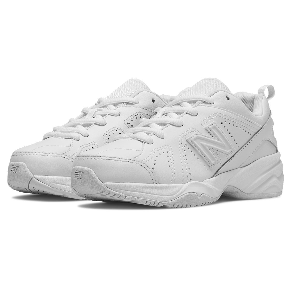 de3a15bc52 Details about Kids New Balance Boys KX624v2 Leather Low Top Lace Up, White,  Size 11 Wide youth