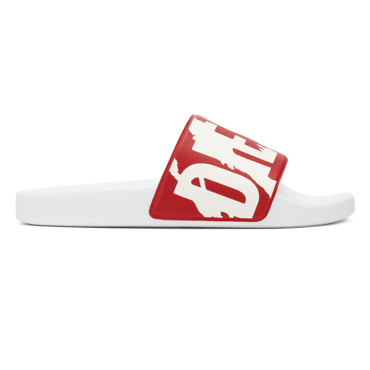 89ff05a05b2fb4 Diesel Hombres SA-Maral Offener Zeh Slip on Hausschuhe Weiss Groesse ...