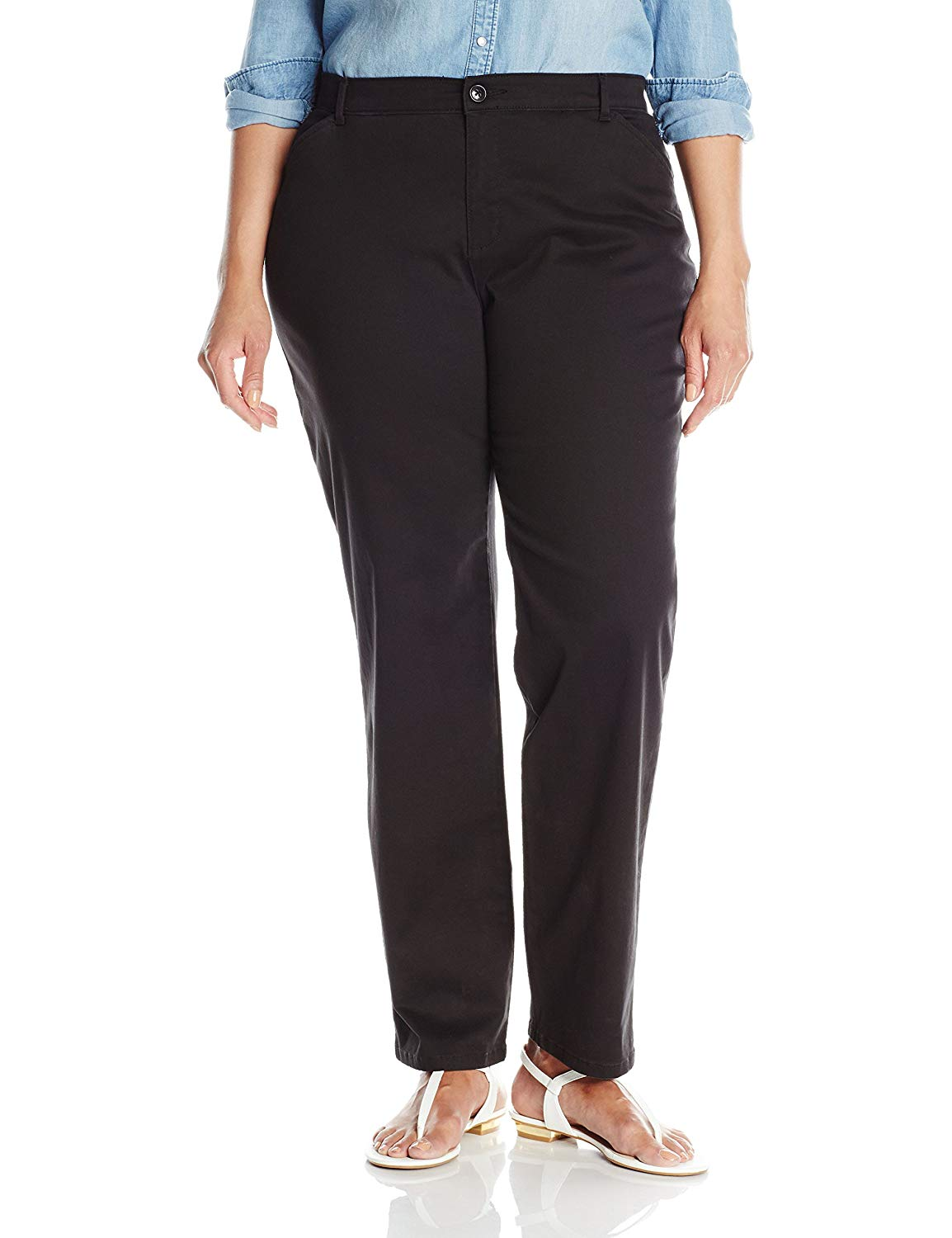 LEE Womens Plus Size Relaxed Fit All Day Straight Leg Pant