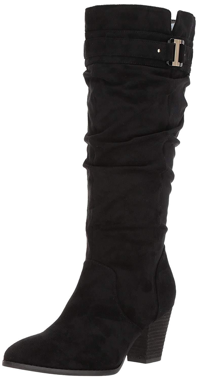 Dr. Dr. Dr. Scholl's shoes Women's Devote Wide Calf Riding, Black Microfiber, Size 11.0 807d43