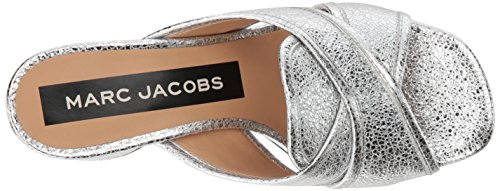 Marc Jacobs Abierta Para Mujer Aurora Puntera Abierta Jacobs mulas, plata, tamaño 9.0 082963