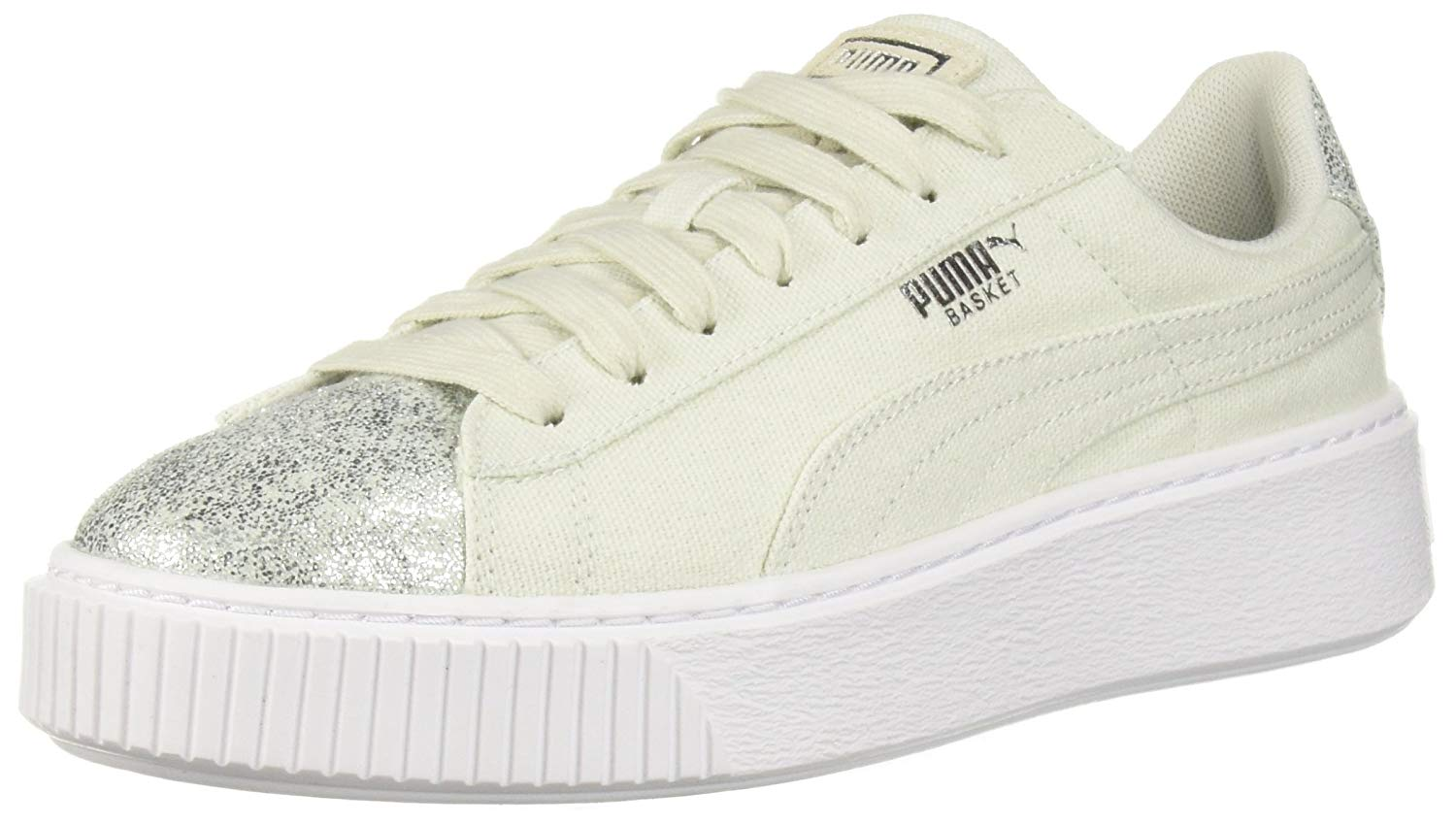 f07da5be1903 Puma Womens Basket Platform Canvas Low Top Lace Up Fashion Sneakers