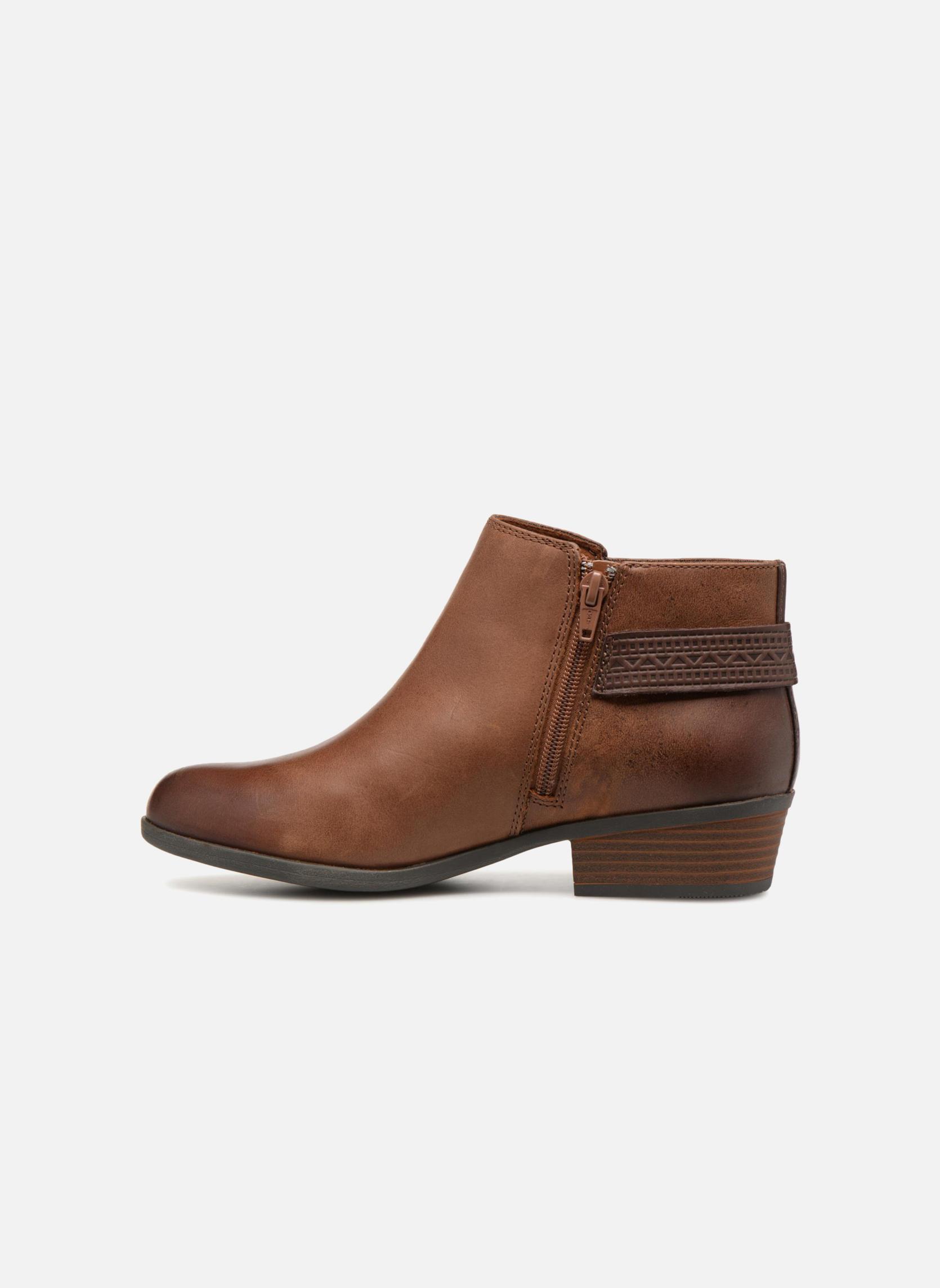 Clarks mujer Addiy Kara Leather Almond Toe Ankle Fashion, Tan Leather, Talla 9.0