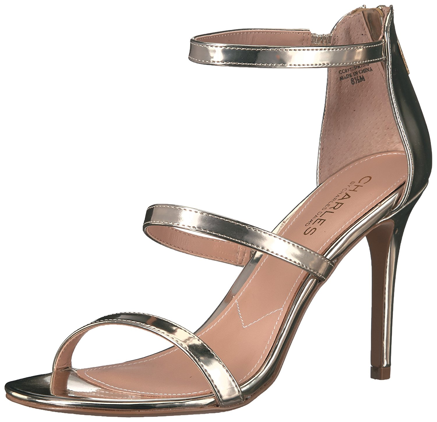 Charles by Charles David Womens Ria Open Toe Casual Ankle Strap Gold Size 85