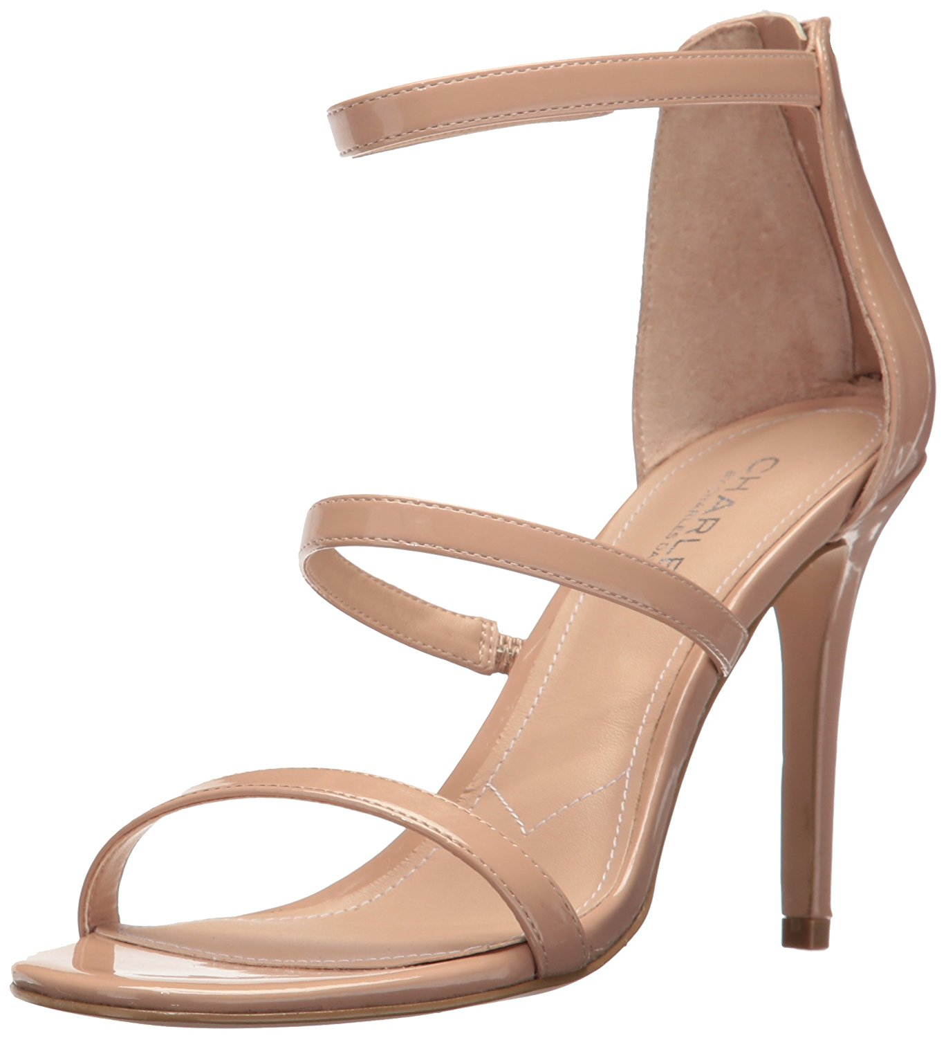 Charles by Charles David Womens Ria Open Toe Casual Ankle Strap Nude Size 85