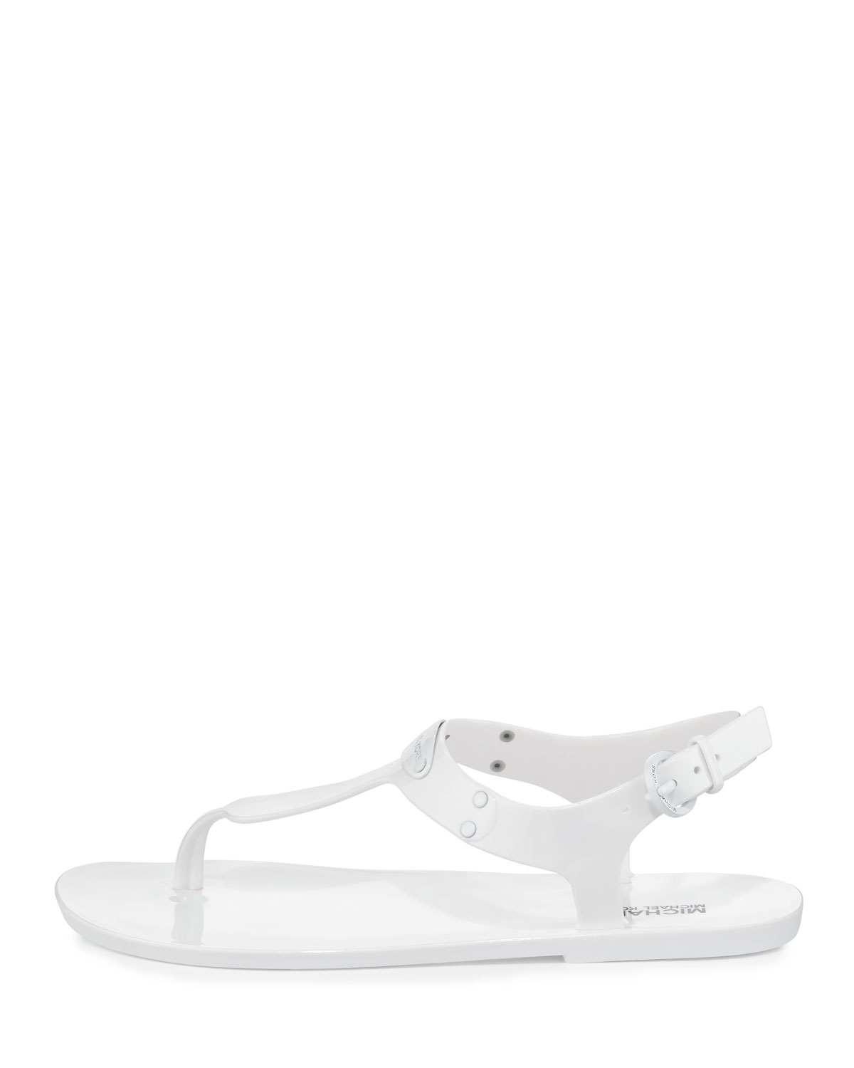 96c0b331a89 Michael Kors Plate Jelly Womens Flat Sandals optic white 6 US   4 UK ...
