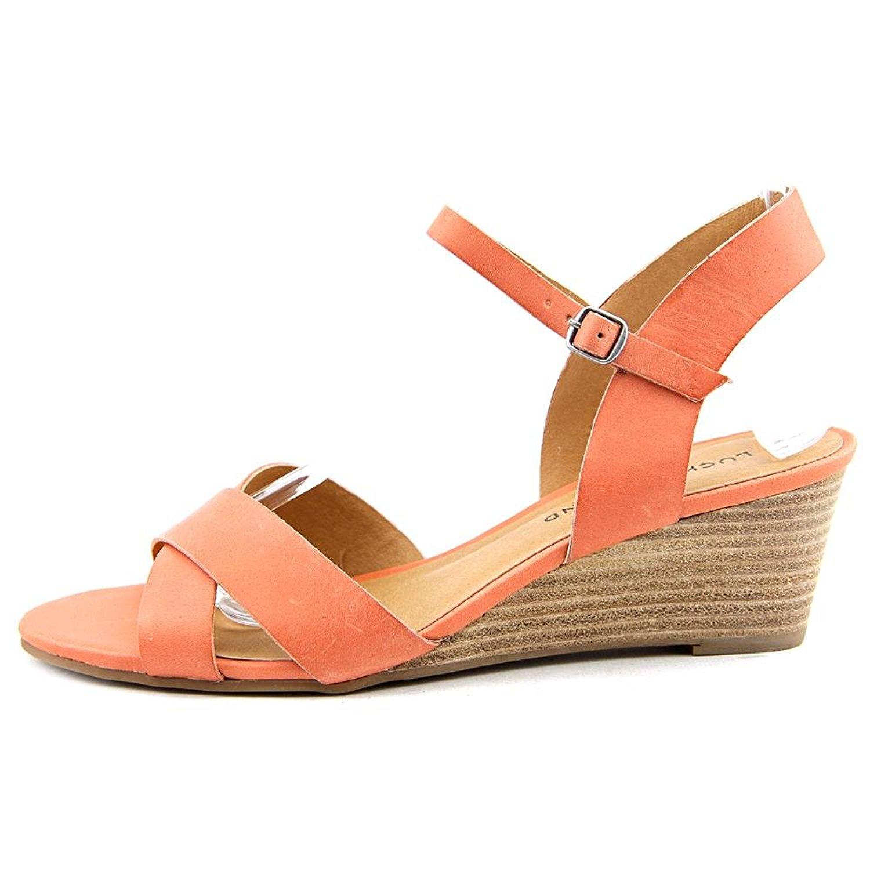 Lucky Brand Womens Jaidan Leather Open Toe Casual Platform Peony Size 70