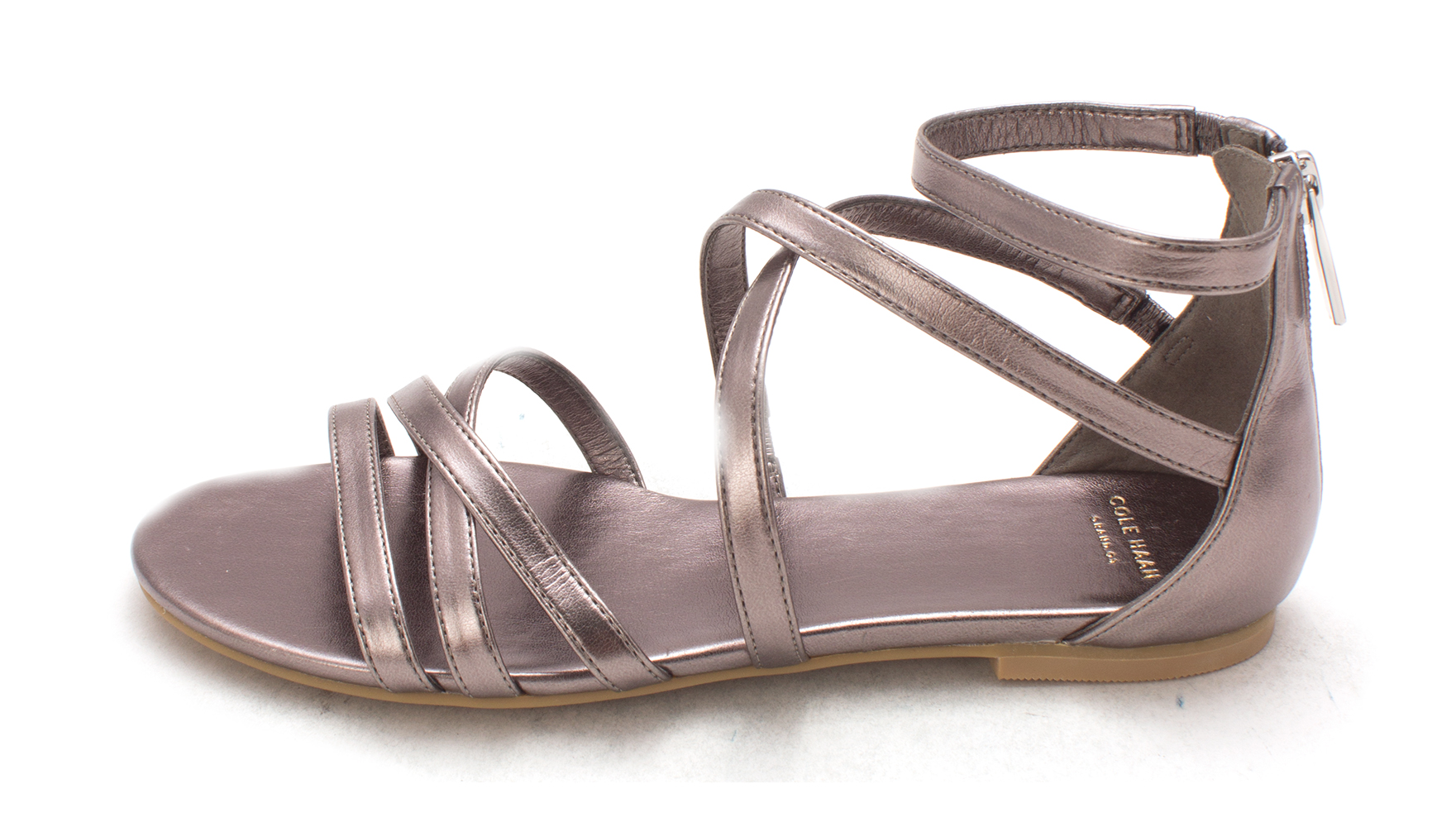 Cole Haan Womens 14A4110P Open Toe Casual Strappy Sandals Gunmetal Size 60