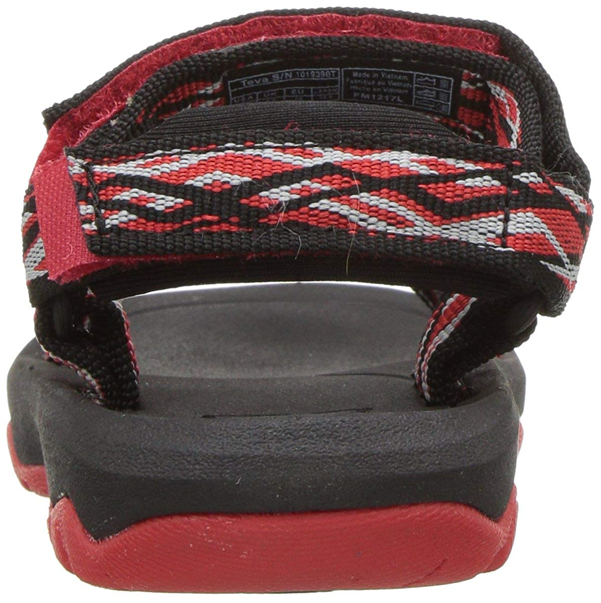 cad466b94a31f0 Teva Hurricane XLT 2 Girls Sandals Delmar Black Red 0 US   M