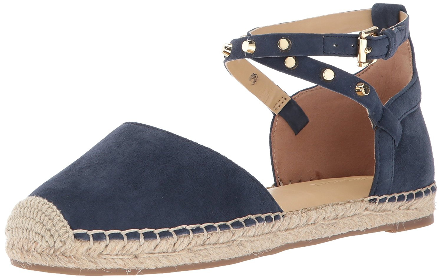 6ea67c09569f Details about Marc Fisher Womens Maci Leather Closed Toe Ankle Strap  Espadrille Flats