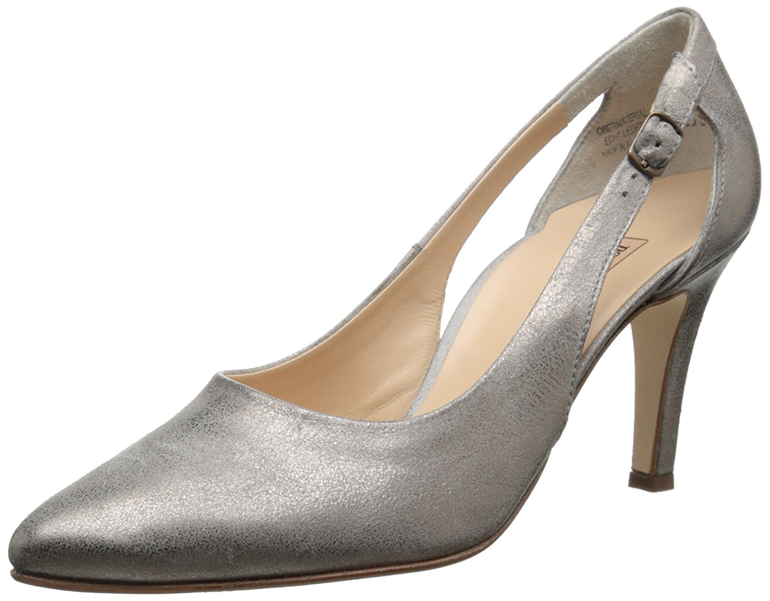 Paul Classic Green Womens Contessa Pointed Toe Ankle Strap Classic Paul Pumps Grey Size 4.5 85fdae