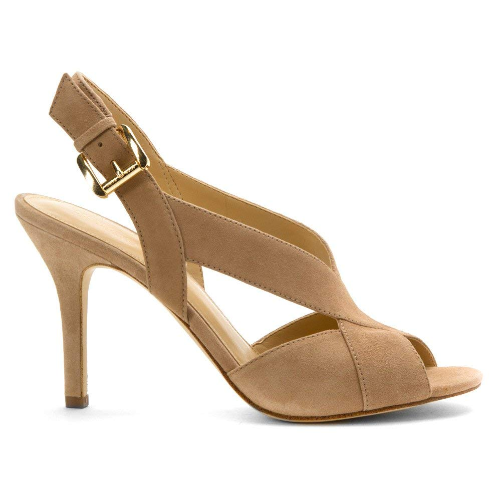 2f6370cff Michael Michael Kors Womens Becky Sandal Leather Open Toe