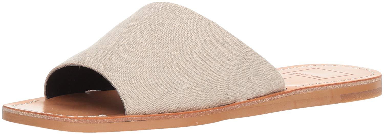 f4f65824a37b Dolce Vita Womens cato Open Toe Casual Slide Sandals, Sand Linen ...