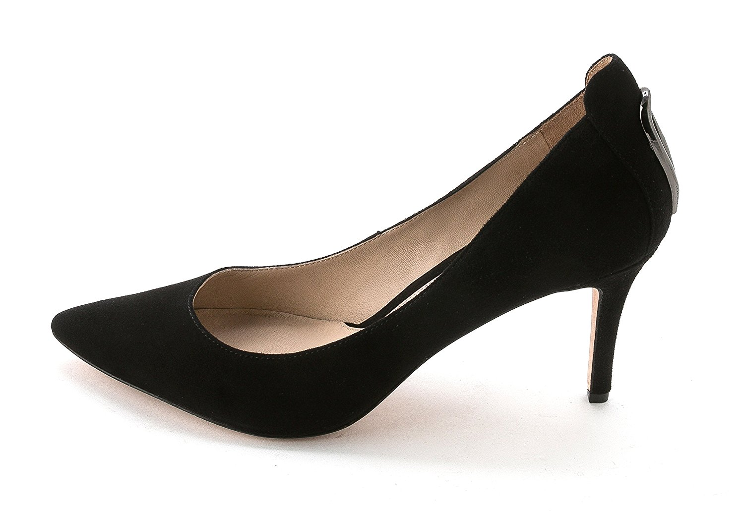 Carolinna Espinosa Womens Lenore Leather Pointed Toe Black Suede Size 10.0