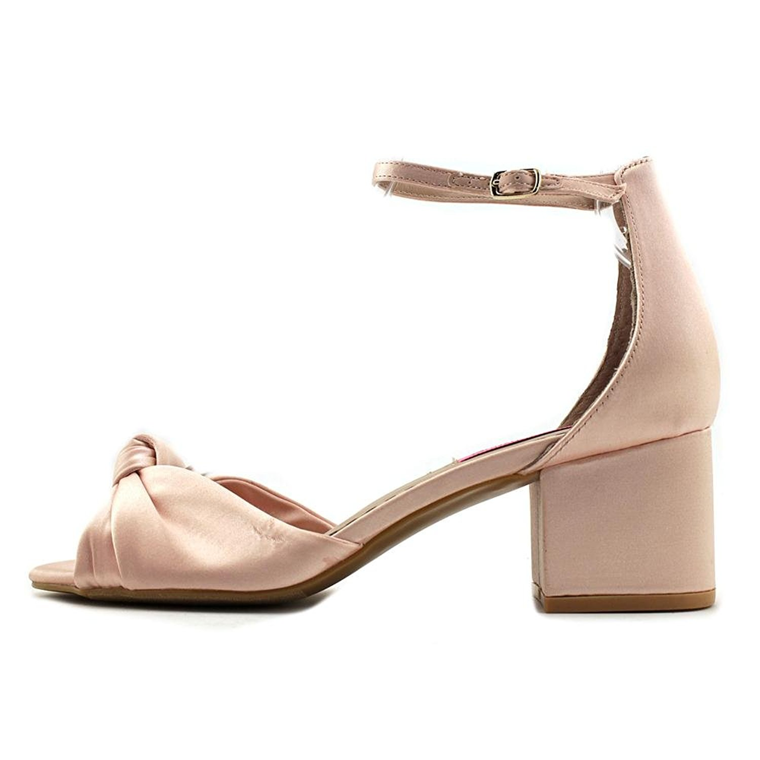 Betsey Johnson Womens Ivee Fabric Open Toe Casual Ankle Strap Blush Size 6.5 o