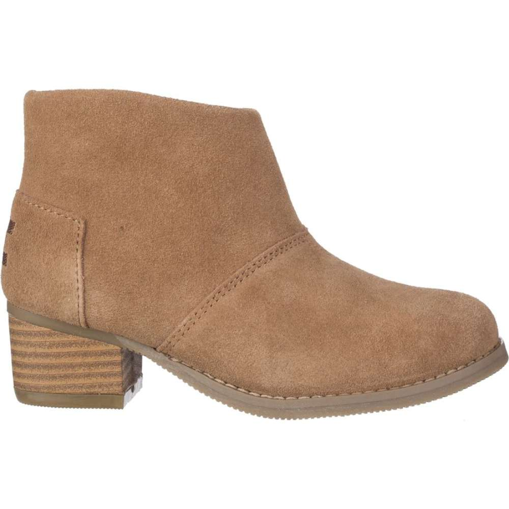 TOMS Girls Leila Suede Ankle Zipper Riding, Toffee Suede, Size 5 M ...