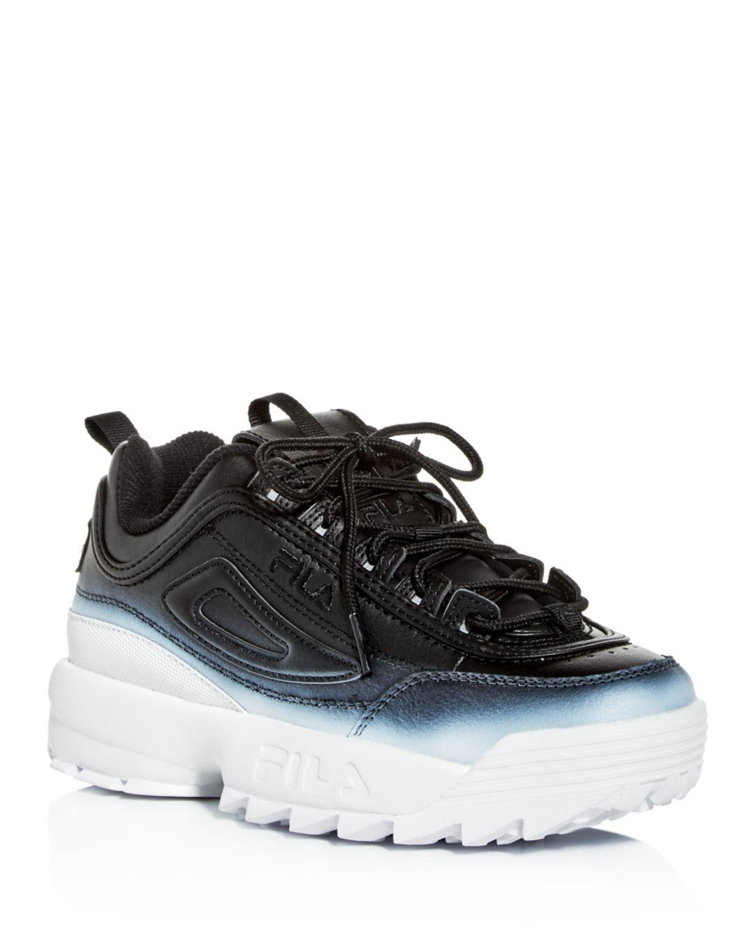 Details about Fila Mens Disruptor ll Low Top Lace Up Fashion Sneakers, Black, Size 6.5