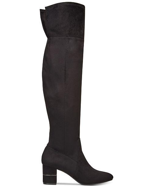 Alfani para mujer Novaa cerrado cerrado Novaa Toe sobre la rodilla botas De Moda 4130df