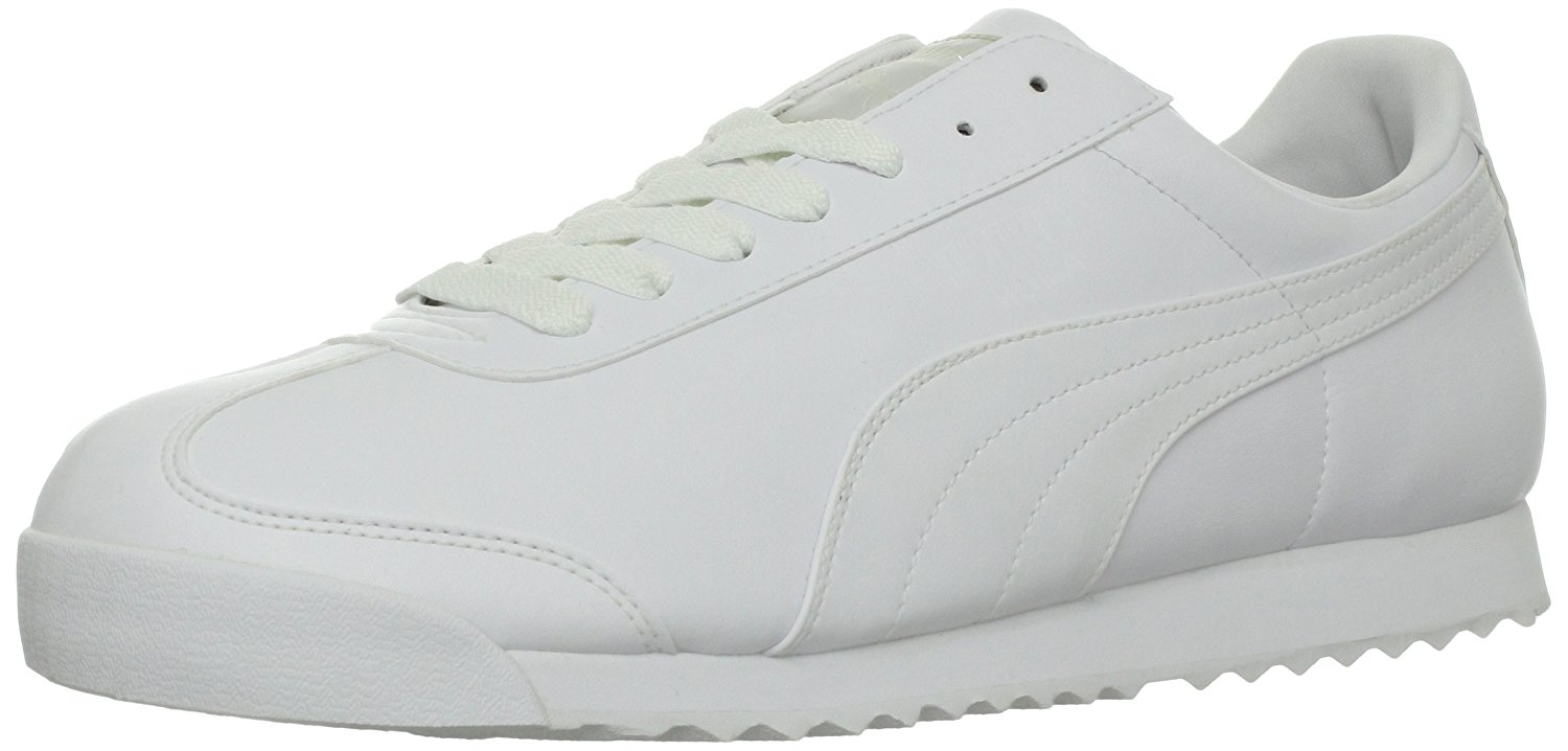 7c4f761d524e PUMA Mens Roma Basic Low Top Lace Up Fashion