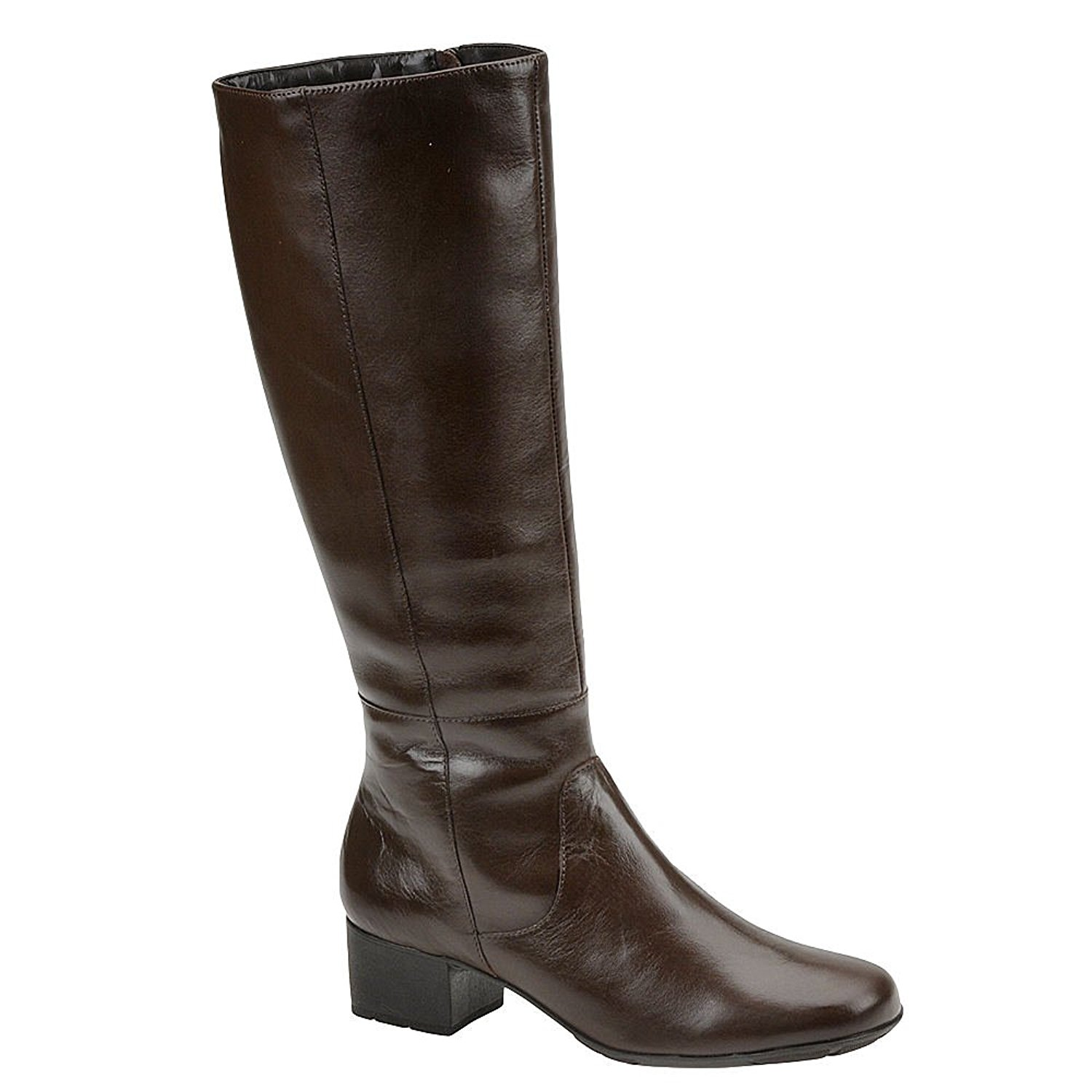 e32649196e4 Details about Walking Cradles Womens Elite Mix Closed Toe Knee High, Brown  Leather, Size 10.0