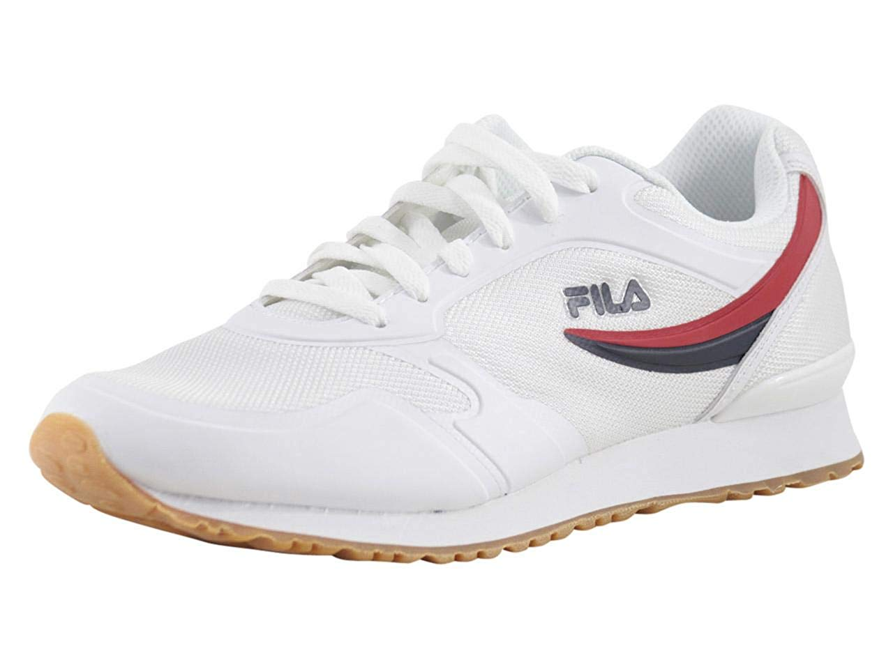 8e7d32c620c0 Details about Fila Men s Forerunner-18 White Navy Red Sneakers Shoes