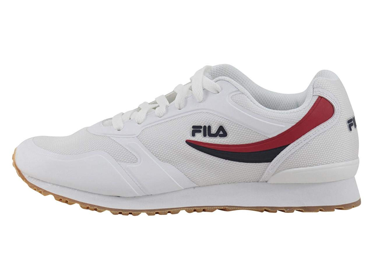 3f4cc035a17a Fila Men s Forerunner-18 White Navy Red Sneakers Shoes