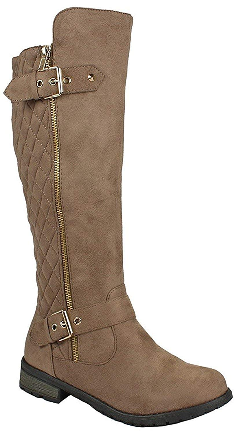 Forever Link Mango-21 Lady Boot, Taupe Nb, Size 6.5 0qPu