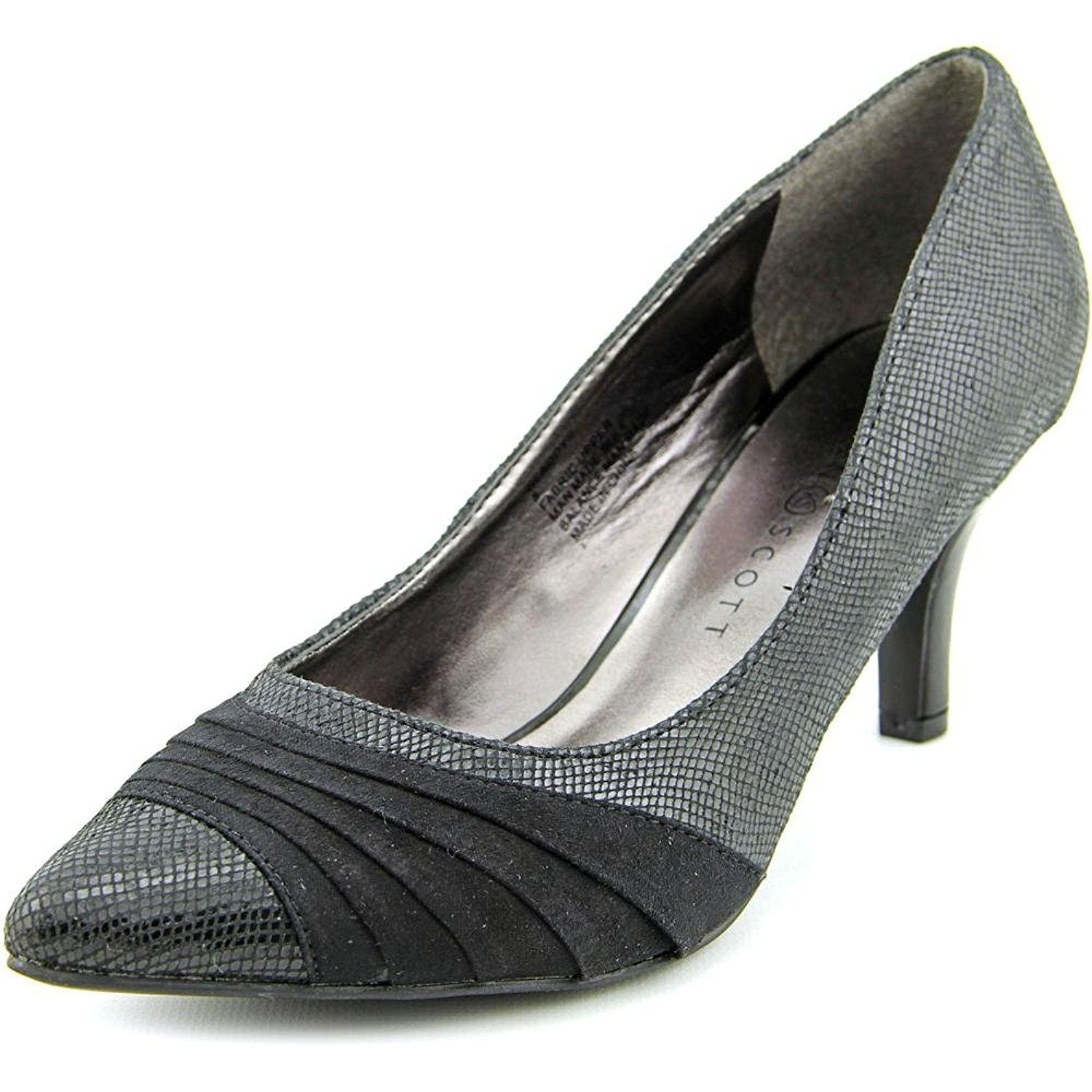 Karen Scott Womens Gladdys Crocodile Pointed Toe Classic Pumps Black Size 10.0