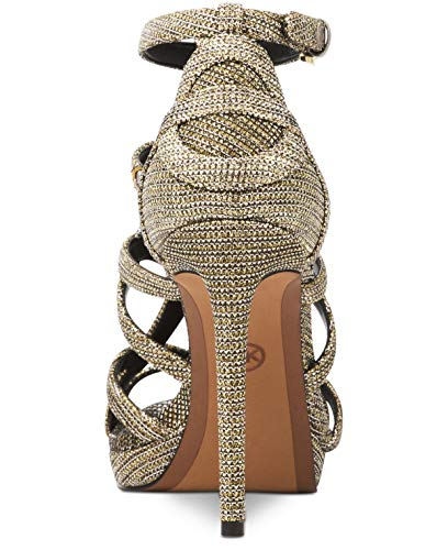 fcc59f603a Michael Michael Kors Sandra Platform Caged Dress Sandals, Black/Gold ...