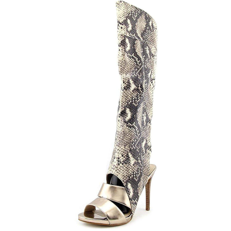 GUESS Womens CONDOLAN3 Fabric Open Toe Knee High Fashion, MultiColor, Size 7.5 V