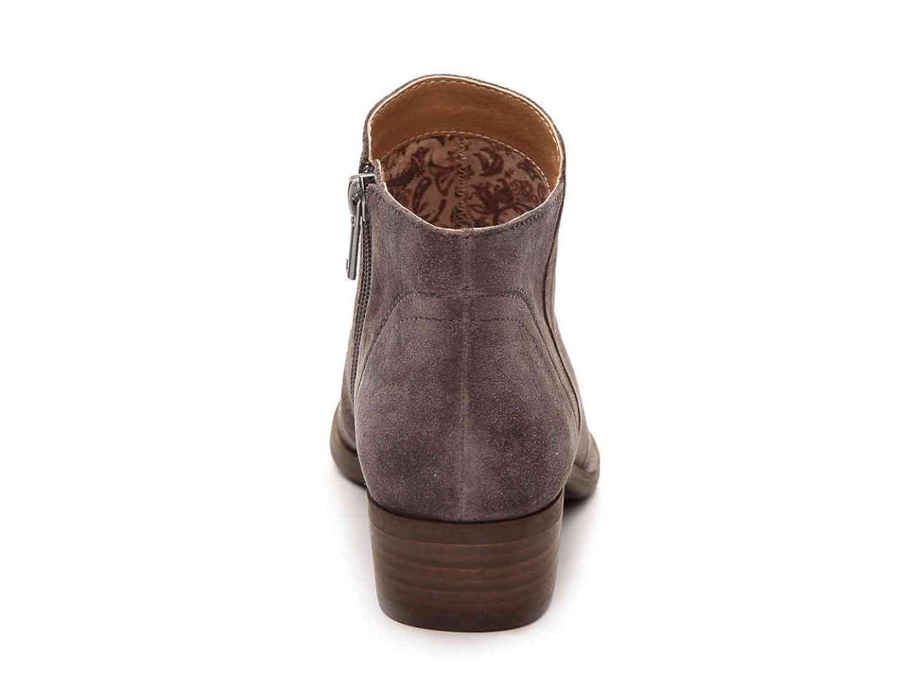 Lucky Brand Frauen Breck Geschlossener Fashion Zeh Leder Fashion Geschlossener Stiefel Grau Groesse 7. 86ece2