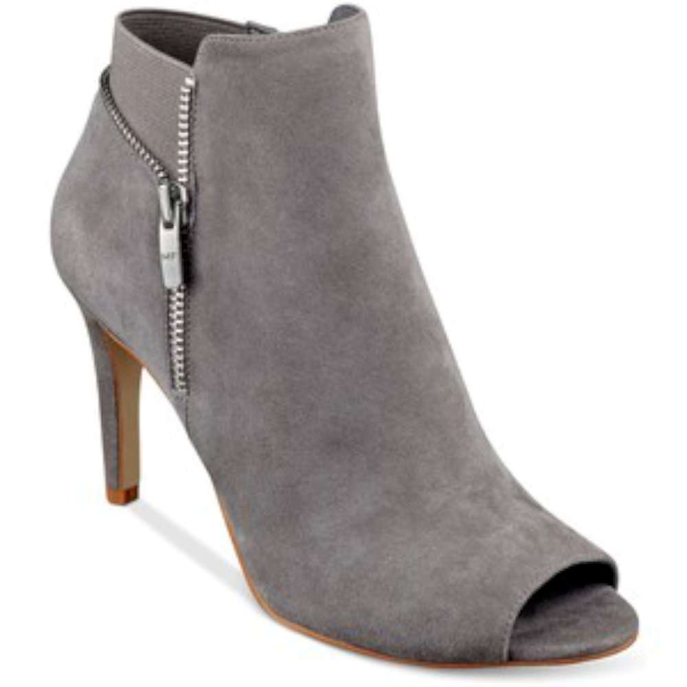 Picture 1 of 4 ... - Marc Fisher Women's Serenity Peep-toe Ankle Boot Grey Suede Size