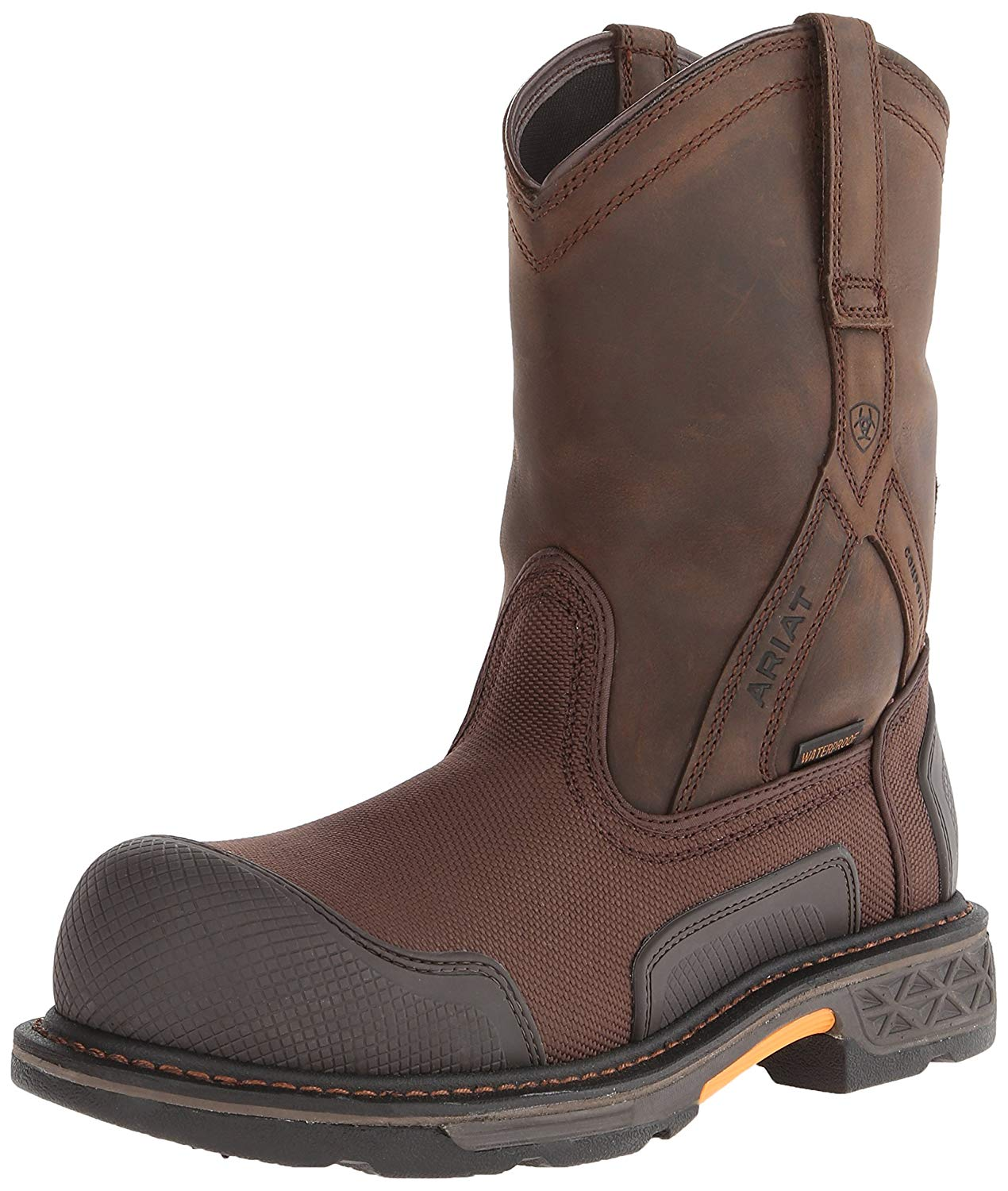385ad19e5c8 Details about Ariat Men's Overdrive XTR Pull-on H2O Composite Toe Work  Boot, Brown, Size 10.5