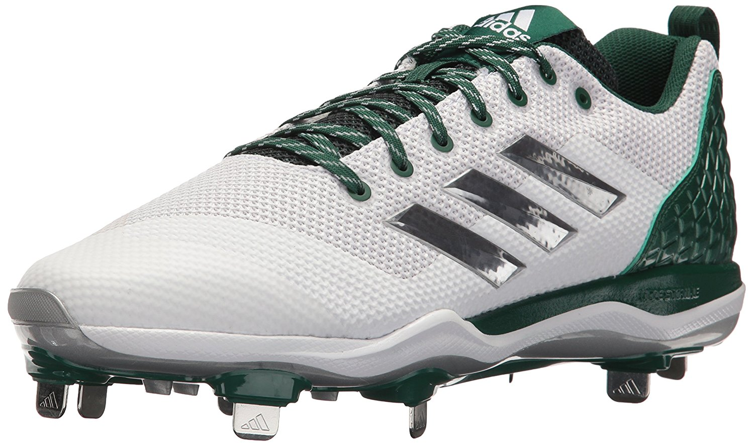 Adidas Mens Poweralley 5 Fabric Low Top Lace Up Baseball Shoes