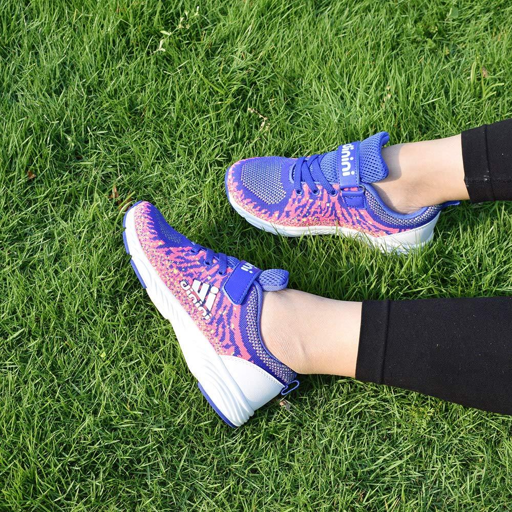 Kids Tennis Running Shoes Girls Boys Knit, Light Blue ...