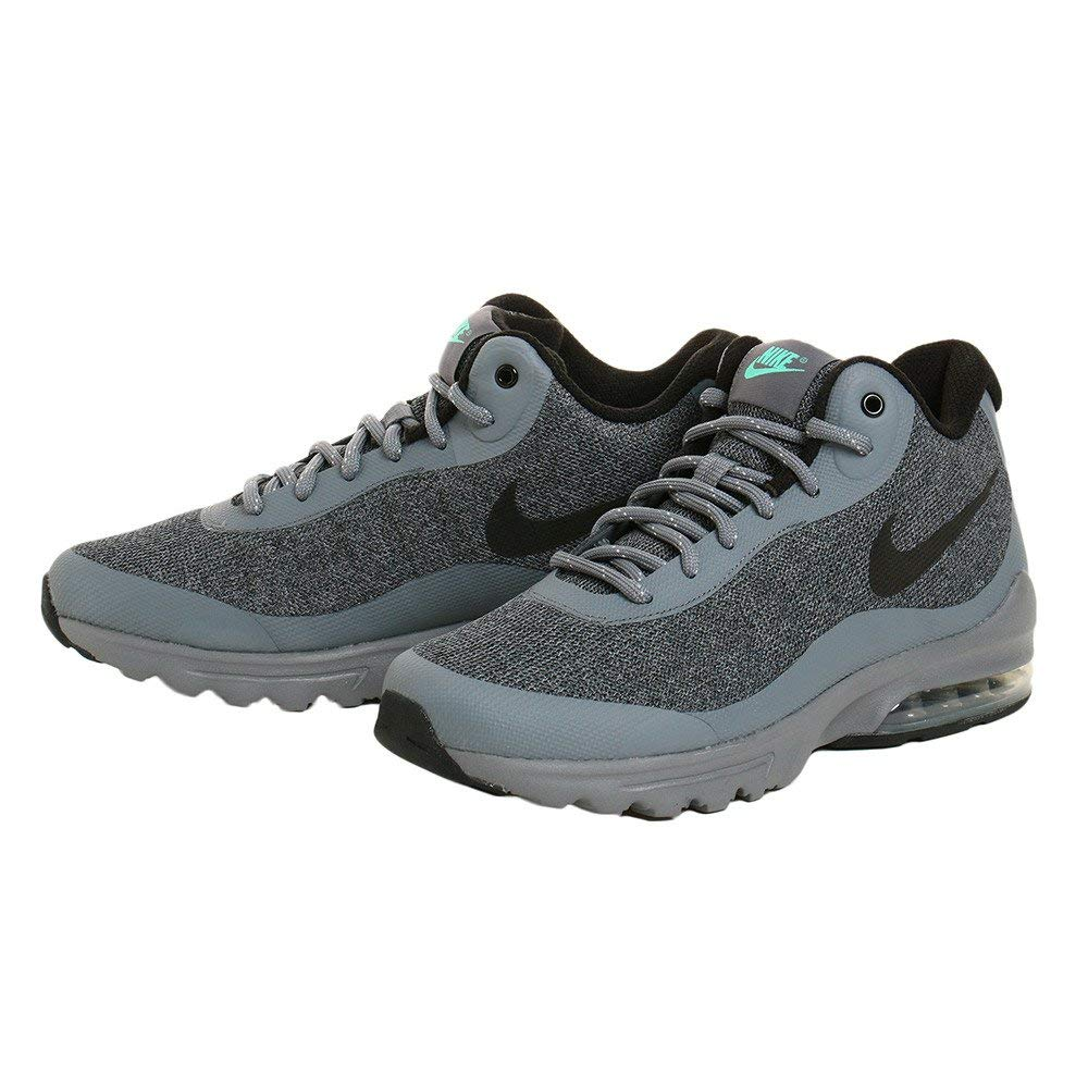 58516ef9 Nike Mens Air Max Invigor Mid Low Top Lace Up Running Sneaker, Grey, Size  8.5