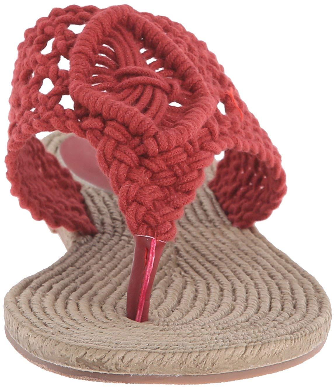 50e4586c9d1b MIA Womens Nefili Fabric Split Toe Casual T-Strap Sandals