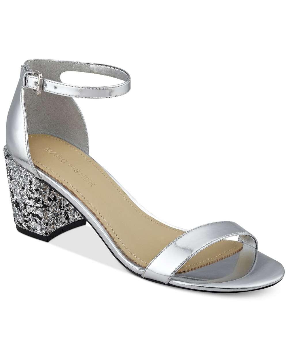 ff5a66709e9 Marc Fisher Womens Safia Open Toe Casual Ankle Strap Sandals