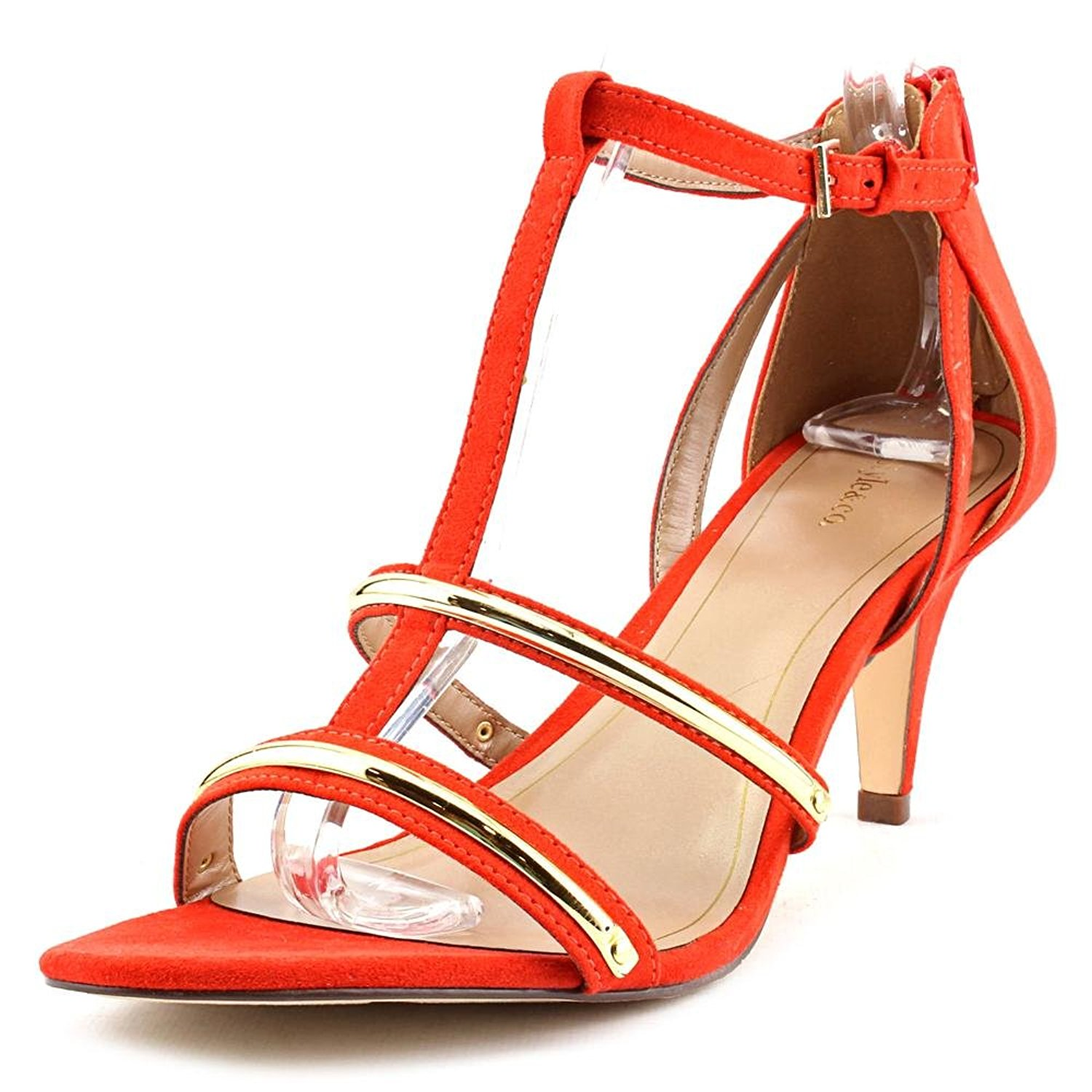 Style & Co. Womens Hughley Open Toe T-Strap Classic Pumps, Orange ...