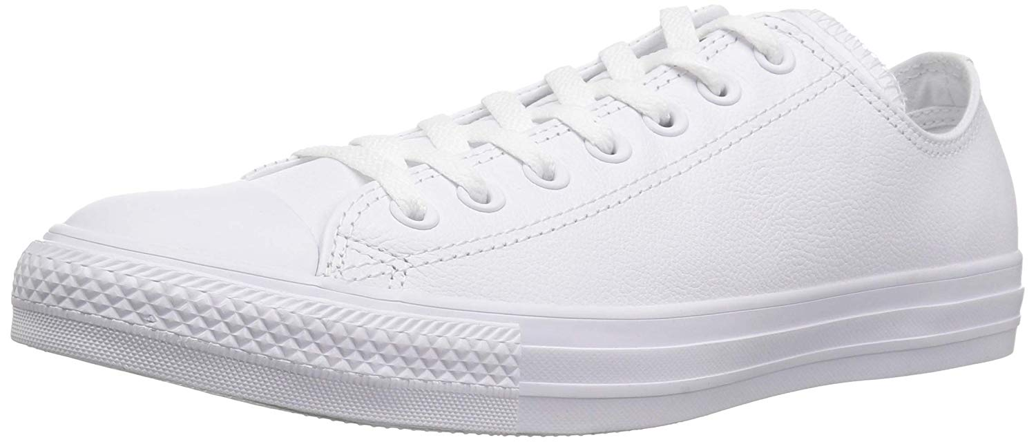 Details about Converse Womens all star leather ox Leather Low Top Lace Up, White, Size 7.5 yDe