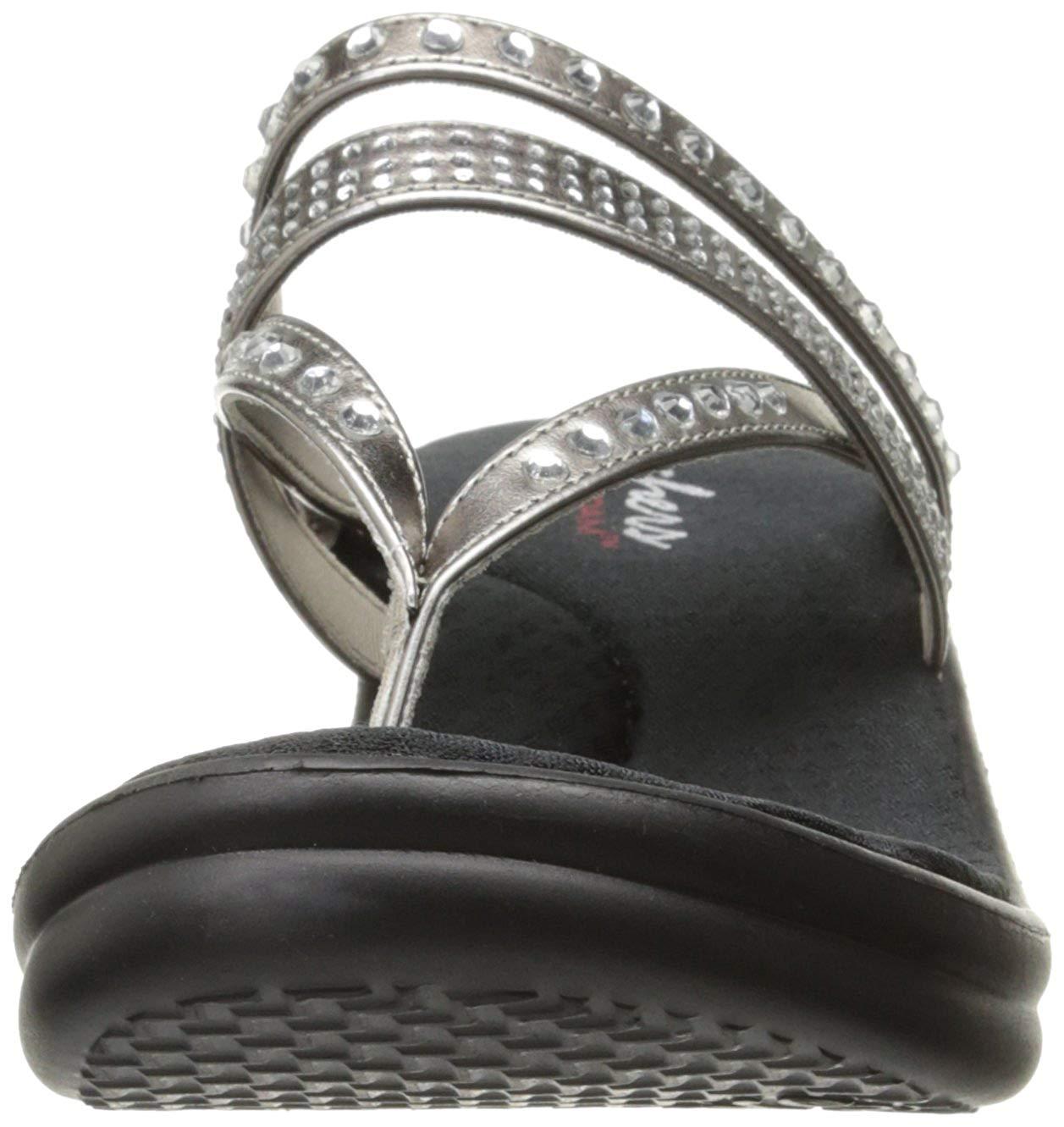 5f93ef6a710b Skechers Womens Platform Sandals Pewter 11 US   9 UK 190872240571