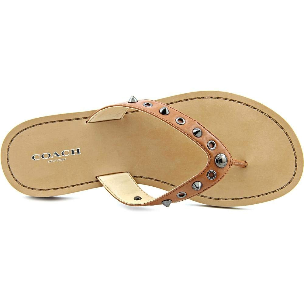 92424eb7ea4246 Coach Cottage Soft Women Open Toe Synthetic Brown Thong Sandal ...
