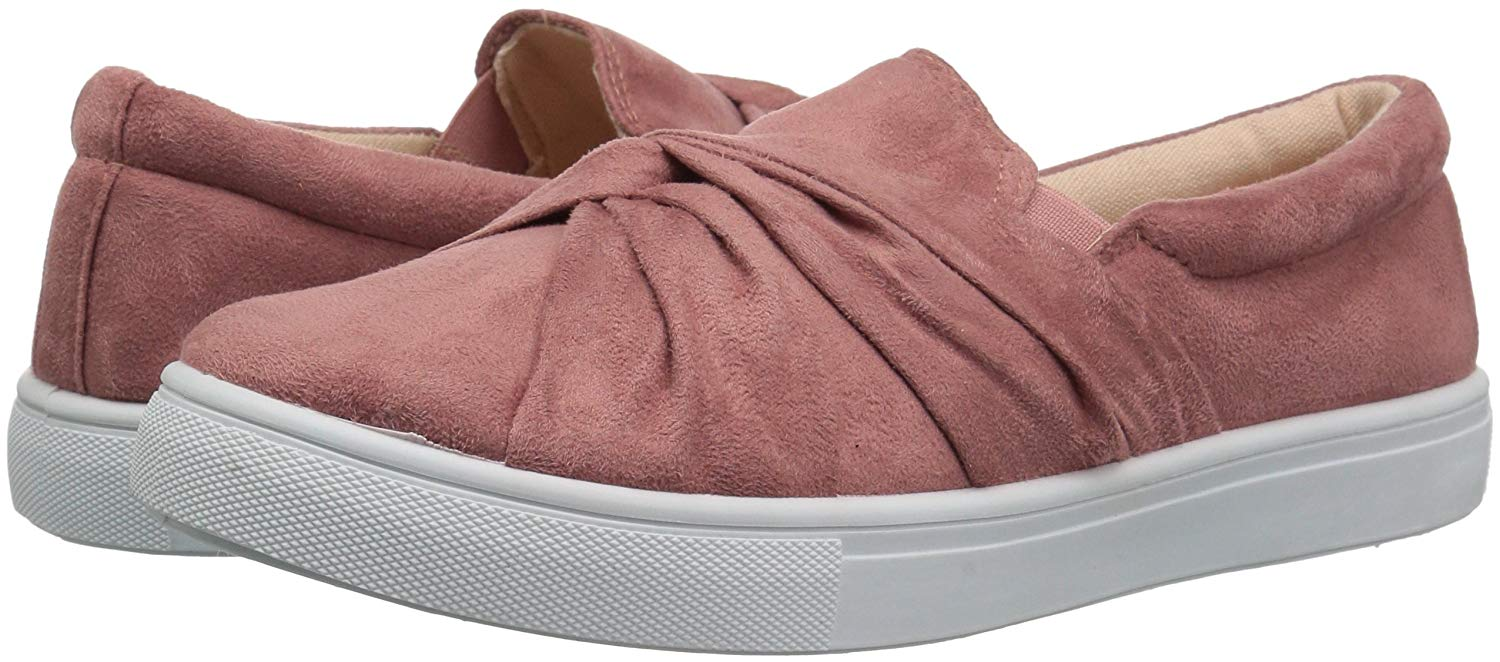 Details about Qupid Womens moira-03 Suede Low Top Slip On Fashion Sneakers 8d3b7ef78